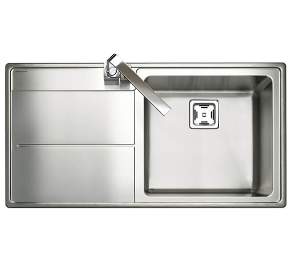 Rangemaster Arlington Stainless Steel Inset 985 x 508mm Polished 1 Bowl Kitchen Sink