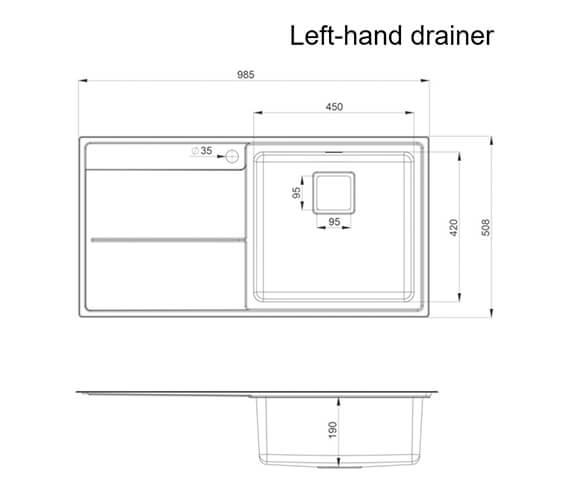 Technical drawing QS-V89112 / AR9851L/