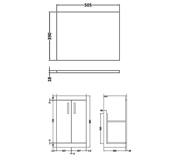 Technical drawing QS-V89273 / ATH006W