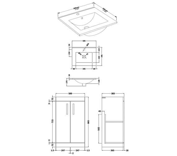 Technical drawing QS-V89273 / ATH006W