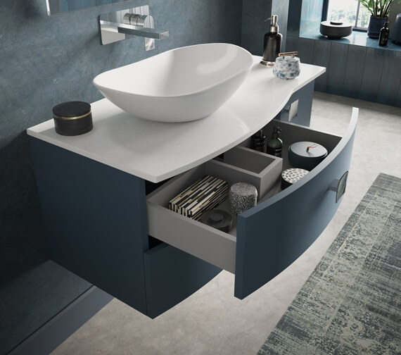 Hudson Reed Sarenna 1006 x 504mm Wall-Hung Cabinet With Worktop Or Basin