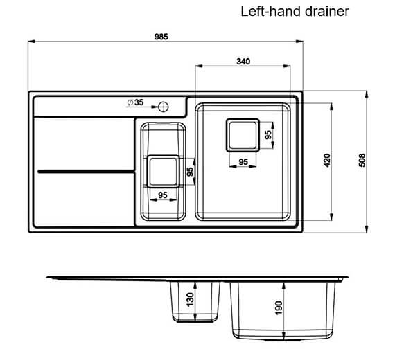 Technical drawing QS-V12139 / AR9852L/