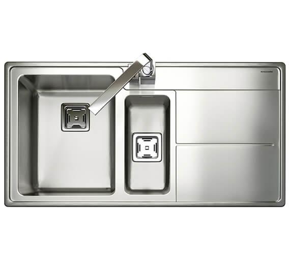 Additional image of Rangemaster Arlington Stainless Steel Inset 985 x 508mm Polished 1.5 Bowl Kitchen Sink