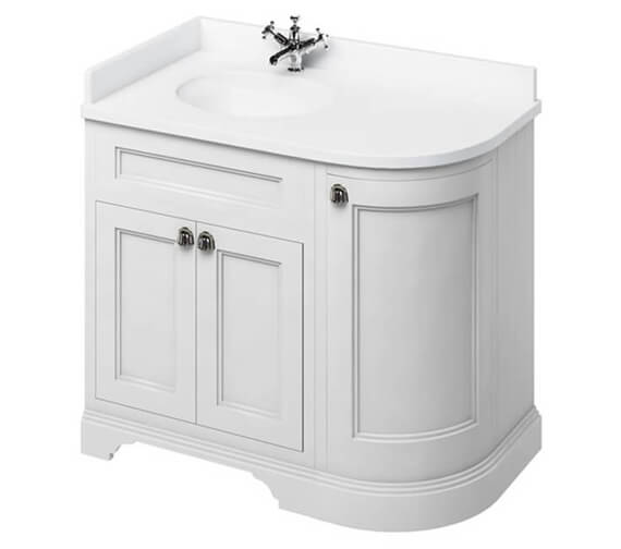 Burlington Freestanding 1000mm Left Hand Curved Corner Vanity Unit