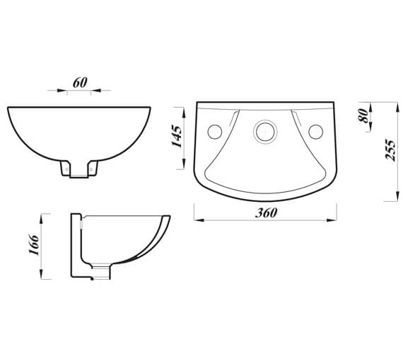 Technical drawing QS-V104432 / ASWH14BA