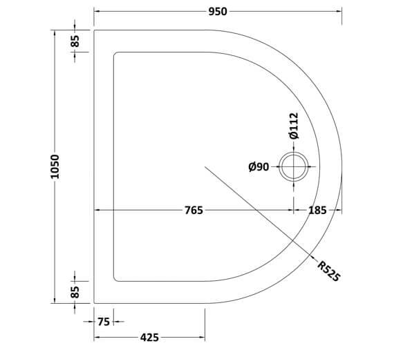 Technical drawing QS-V70952 / NTP095