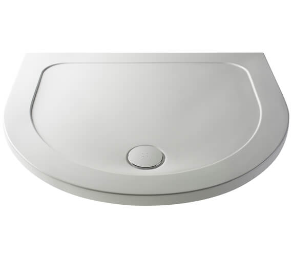 Nuie Pearlstone D Shape 1050mm Shower Tray