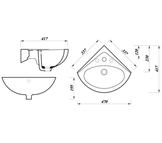 Technical drawing QS-V104434 / ASWHCBA1