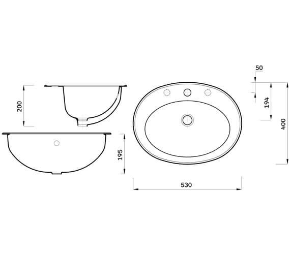 Technical drawing QS-V104435 / ASWHVBA1