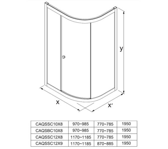 Technical drawing QS-V104410 / CAQSSC10X8