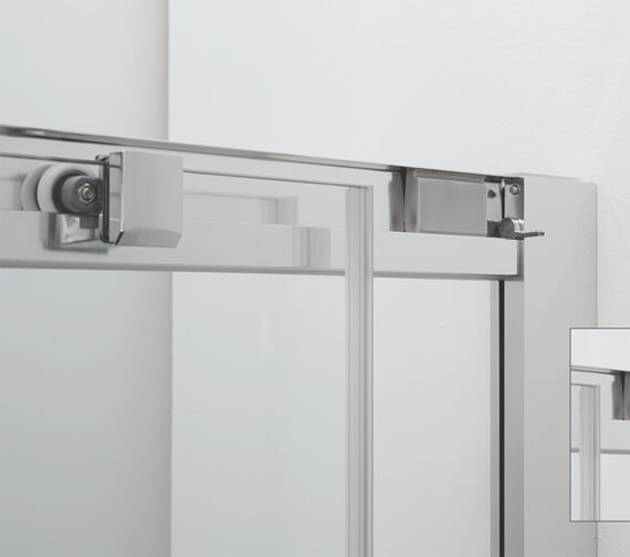 Additional image of Crosswater Clear 6 1950mm Height Offset Quadrant Single Door