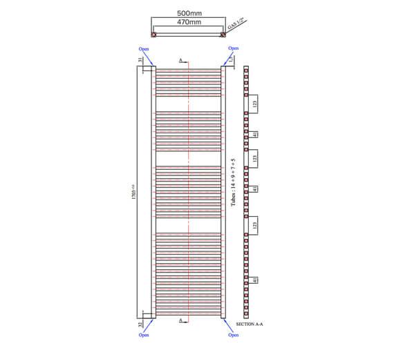 Technical drawing QS-V105028 / 383411