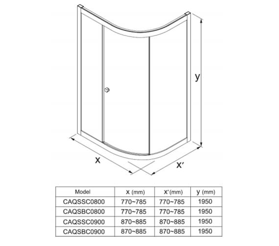 Technical drawing QS-V100402 / CAQSSC0800