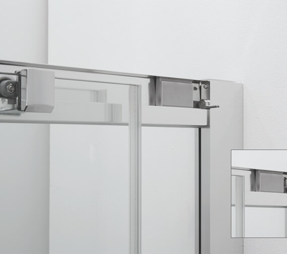Additional image of Crosswater Clear 6 1950mm Height Quadrant Single Door