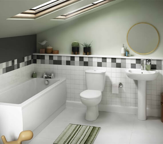 Lecico Atlas Trade Close Coupled WC Pan With Cistern And Soft Close Seat