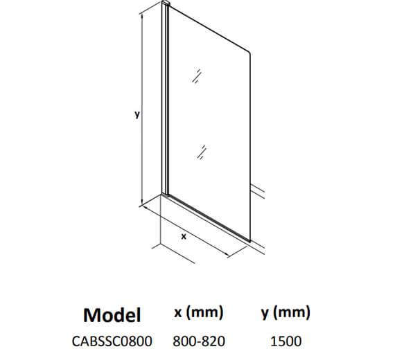 Technical drawing QS-V104482 / CABSSC0800
