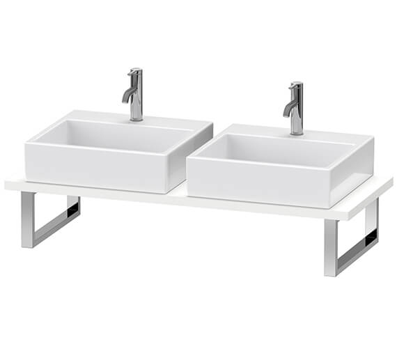 Duravit Brioso 550mm Depth 2 Cut-Out Console For Above Counter Basin And Countertop Basin