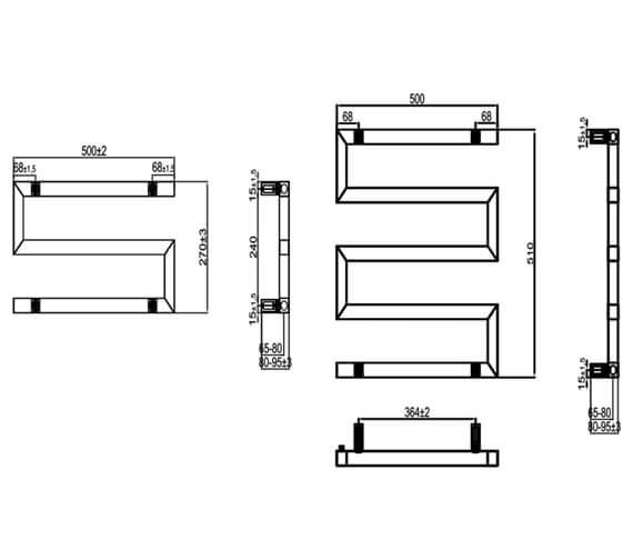 Technical drawing QS-V95315 / RND-SRP0275A