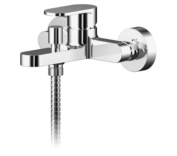 Nuie Binsey Exposed Wall Mounted Bath Shower Mixer Tap With Kit