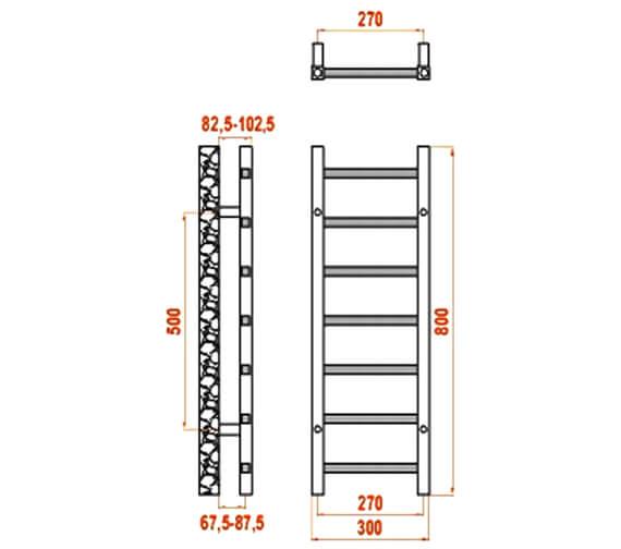 Technical drawing QS-V20829 / RND-SRN3080A