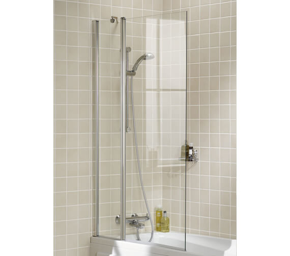 Additional image of Lakes Classic Square Bath Screen 800 x 1500mm Silver