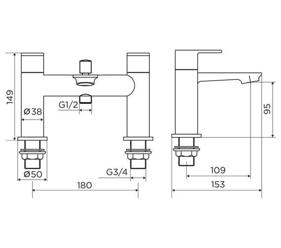 Technical drawing QS-V98641 / 9142