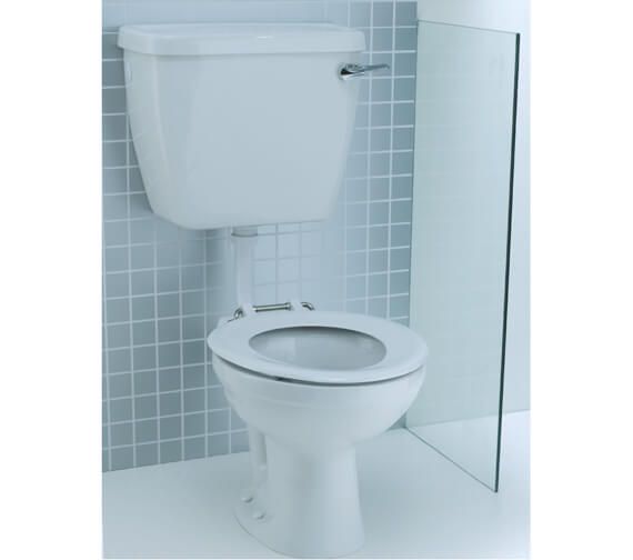 Lecico Atlas 350mm Height Low Level Junior School P Trap WC Pan With Cistern
