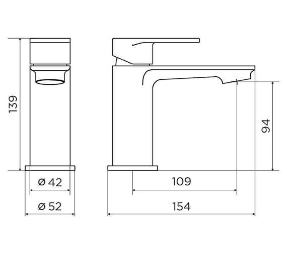 Technical drawing QS-V98639 / 9140