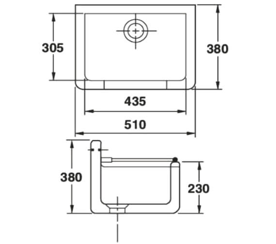 Technical drawing QS-V104450 / CLEANL18SET