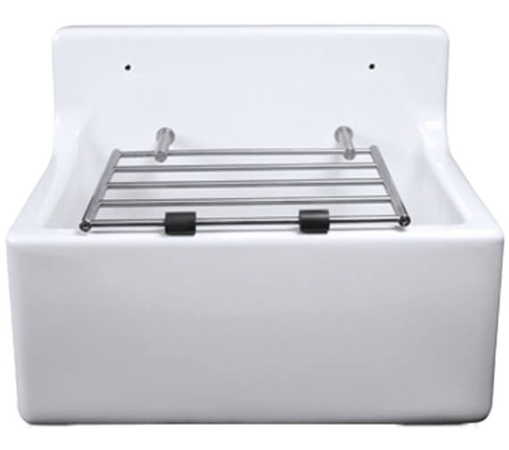 Alternate image of Lecico Atlas Low Or High Back Cleaner Sink With Legs And Bearers And Waste