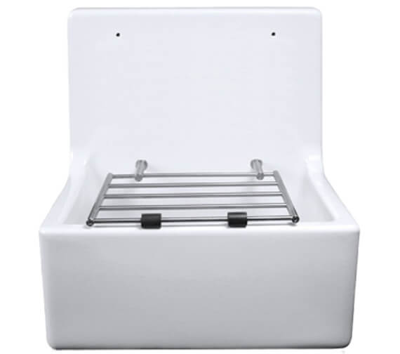Additional image of Lecico Atlas Low Or High Back Cleaner Sink With Legs And Bearers And Waste