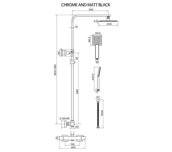 Technical drawing QS-V93867 / 9302