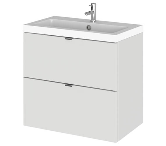 Hudson Reed Fusion 600mm Wide 2 Drawer Vanity Unit And Basin - Ex Display