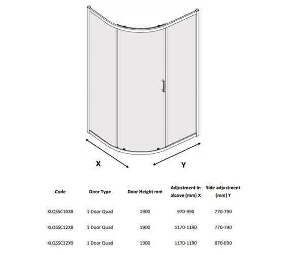 Technical drawing QS-V104486 / KLQSSC10X8
