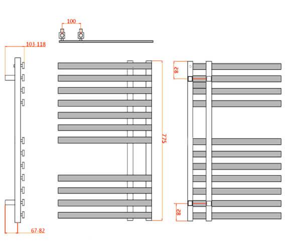 Technical drawing QS-V20748 / RND-FLN5080