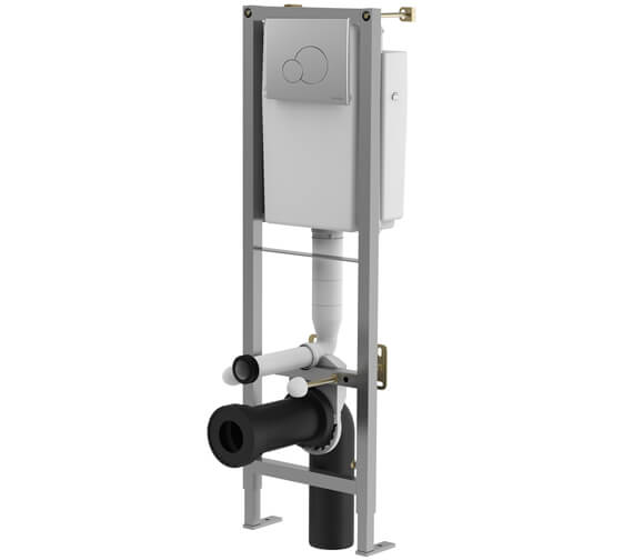 Lecico Atlas 2 Part WC Frame With Cistern And Chrome Effect Flush Plate