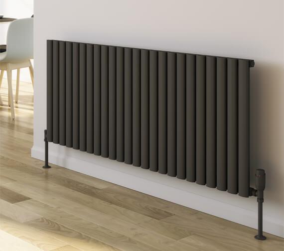 Additional image of Reina Neval 600mm High Horizontal Double Panel Designer Radiator