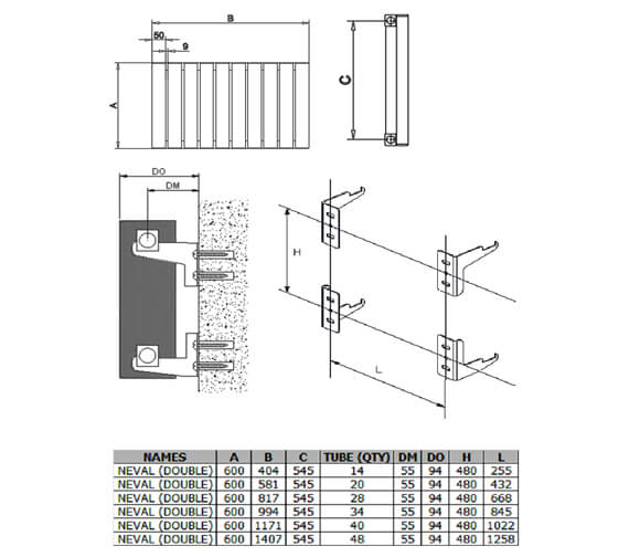Technical drawing QS-V100411 / A-NVL06040DW