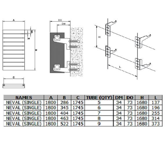 Technical drawing QS-V100409 / A-NVL18028SW
