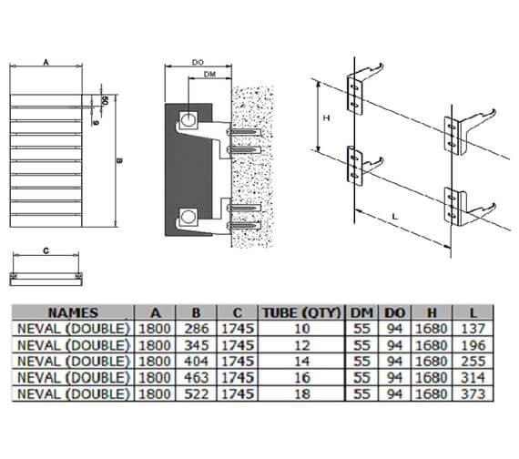 Technical drawing QS-V100410 / A-NVL18028DW