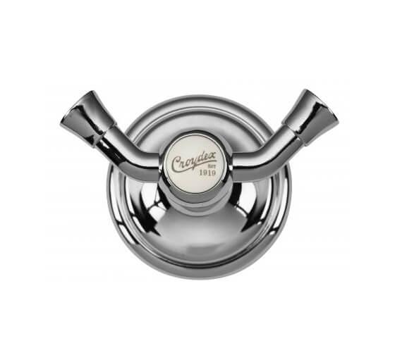 Croydex 1919 Double Robe Hook - Chrome