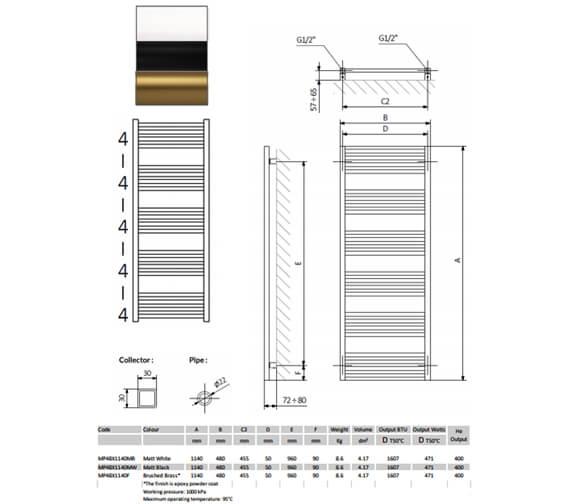 Technical drawing QS-V102828 / MP48X1140MB