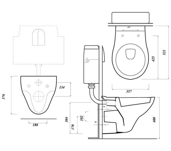 Technical drawing QS-V104514 / ASTWHWHP