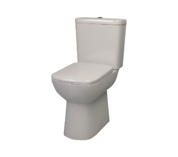 Lecico Atlas Pro Comfort Height Square Close Coupled WC With Cistern And Soft Close Seat