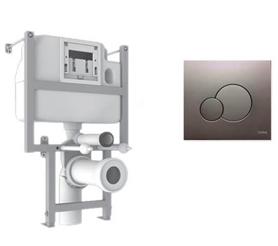 Lecico Atlas Pro Compact Frame With Cistern And Chrome Flush Plate