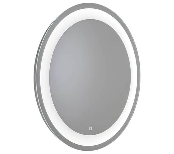 Croydex Wyncham Hang N Lock LED Illuminated 700mm Round Mirror