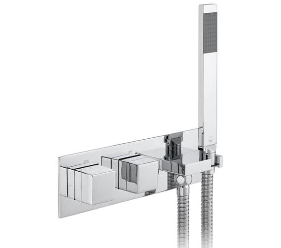 Vado Notion Concealed Thermostatic Shower Valve with Integrated Outlet Handset and Hose