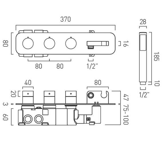 Technical drawing QS-V105715 / TAB-148/2WO-ALT-CP
