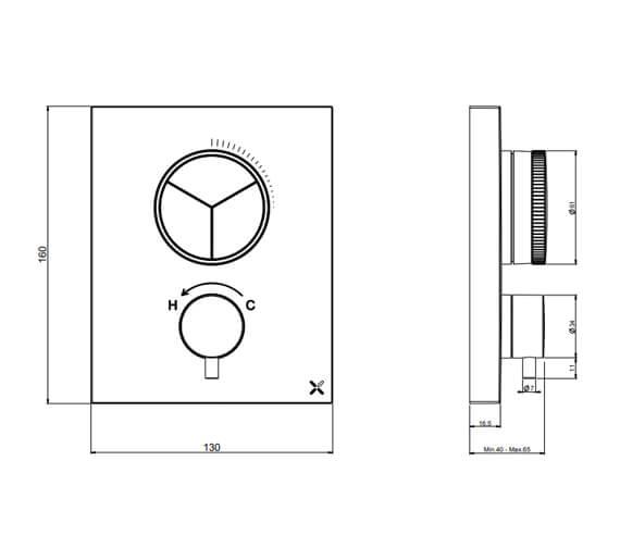 Technical drawing QS-V104496 / PROCBPUSH1500LBPC