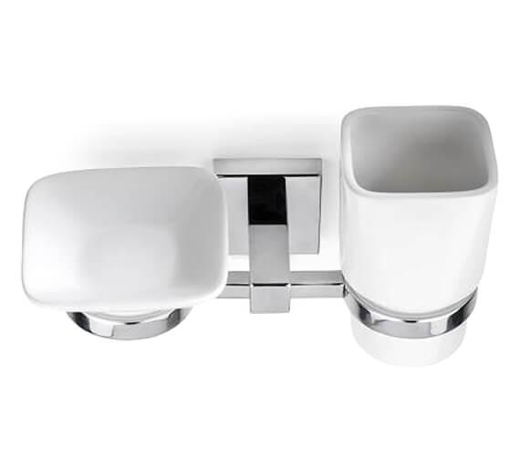 Croydex Flexi-Fix Everson Soap Dish And Tumbler